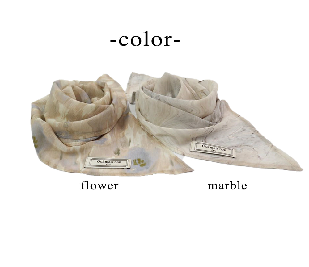 위메농(OUI MAIS NON) Blossom petit scarf